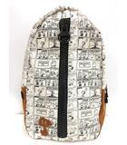 ピーナッツ PEANUTS スヌーピー リュック バックパック ホワイト ブラウン系 ブラック かばん 鞄