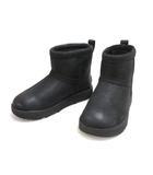 アグ UGG ムートン ショート ブーツ ウォータープルーフ 22.0cm ブラック 黒 W CLASSIC MINI L WATERPROOF 1019641 シューズ 靴