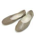 ヨーガンレール JURGEN LEHL レザー フラット バレエ シューズ 23.0 ベージュ系 パンプス 本革 靴