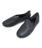 ヨーガンレール JURGEN LEHL レザー フラット シューズ スリッポン 23.0 ブラック 黒 靴 本革