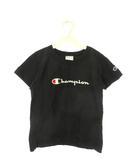 チャンピオン CHAMPION キッズ リバースウィーブ スクリプト Tシャツ 140 ブラック 黒 カットソー 半袖 トップス 子供服