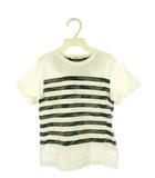 ビームス BEAMS ミニ mini キッズ Tシャツ カモフラ ボーダー 110 迷彩 ホワイト 白 カーキ系 カットソー 半袖 トップス 子供服