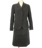 バーバリー ロンドン BURBERRY LONDON セットアップ スカート ジャケット スーツ 40 ブラック 黒 ストレッチ