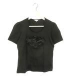 トゥービーシック TO BE CHIC モチーフ付き カットソー 半袖 III ブラック 黒 トップス Tシャツ