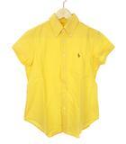 ポロ ラルフローレン POLO RALPH LAUREN オックスフォード ブラウス 半袖 シャツ 刺繍 ボタンダウン 11 イエロー 黄色 トップス