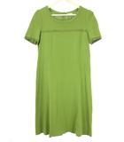 トゥービーシック TO BE CHIC リブ ニット ワンピース 44 グリーン 緑 半袖