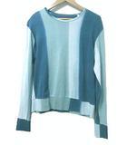 ブルーブルー BLUE BLUE Tシャツ 長袖 カットソー グラデーション 青系 ブルーグリーン S 1 コットン X