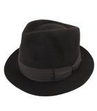 ワコマリア WACKO MARIA ラビットファーハット フェルト 中折れ帽 グログランリボン 無地 L 茶 ブラウン S