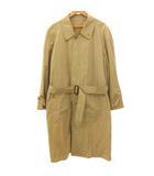 バーバリーズ Burberrys スプリング ステンカラー コート ベルト付き コットン インボタン ベージュ Y