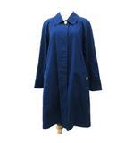 バーバリーズ Burberrys スプリング ステンカラー コート ミディアム丈 コットン 裏地ノバチェック 金ボタン 青 ブルー 9AR Y9381