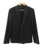 ディオールオム Dior HOMME チューブ ジャケット テーラード ピークドラペル 総裏地 シングル 1B 黒 ブラック 46 IBS15 ☆AA★
