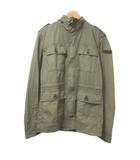 ディーゼル DIESEL M-65 ジャケット フィールド スタンドカラー N.78 フード収納 ジップ スナップボタン カーキ L コットン 胸ポケット IBS15 X