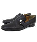 グッチ GUCCI レザー ビジネス シューズ ビット ベルト モンクストラップ キャップトゥ 紳士靴 39 約26cm 茶 ダークブラウン  イタリア製 IBS15