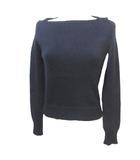 フォクシー FOXEY BOUTIQUE ニット セーター 長袖 ウール セーラー襟 紺 ネイビー 38 IBS15 X
