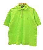 グッチ GUCCI ポロシャツ カットソー 半袖 ワンポイント 刺繍 コットン 黄緑 ライトグリーン M ☆AA★
