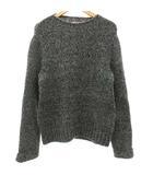 メゾンマルジェラ Maison Margiela 10 HAND KNIT ニット セーター 長袖 ウール クルーネック ミックス グレー S