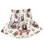 e6ef905b43752 クリスチャンディオール Christian Dior ミニ スカート フレア ウエストゴム イラスト プリント オフホワイト ピンク 10A 女の子