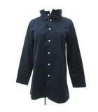 パラスパレス Pallas Palace スプリング コート ジャケット ショート スタンドカラー コットン 紺 ネイビー 2