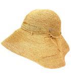 ヘレンカミンスキー HELEN KAMINSKI ラフィア クロシェ ハット 天然素材 つば広 帽子 リボン ベージュ