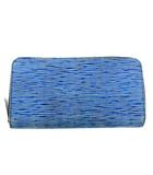 ルイヴィトン LOUIS VUITTON エピ デニム ジッピーウォレット ラウンドファスナー 長財布 青 ブルー インディゴ M61862 A