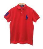 ポロ バイ ラルフローレン Polo by Ralph Lauren ポロシャツ カットソー 半袖 ビッグポニー 刺繍 コットン 赤 レッド 青 ブルー M