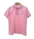 ラコステ LACOSTE ポロシャツ カットソー 半袖 ワンポイント 刺繍 コットン ピンク 2