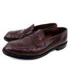 オールデン ALDEN コイン ローファー シューズ 986 レジャーハンドソーンモカシン コードバン レザー ハーフサドル 10 1/2 10.5 D 約28.5cm 茶 ブラウン 革靴 紳士靴 FNM