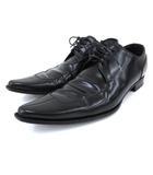 ドルチェ&ガッバーナ ドルガバ DOLCE&GABBANA ドレス シューズ レースアップ 光沢感 ビジネス フォーマル レザー 7 26.0cm 黒 ブラック N FNM
