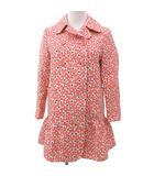 ミュウミュウ miumiu Pコート ピーコート 総柄 ダブル コットン 裾フレア ピンク 40 FNM