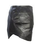アングロマニア ANGLOMANIA ヴィヴィアンウエストウッド Vivienne Westwood スカート 無地 光沢感 ミニ タイト ストレッチ 黒 ブラック 38 IBS25 X