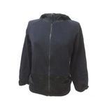 プラダ PRADA パーカー ジップ 国内正規 長袖 黒 ブラック XS 小さいサイズ コットン レーヨン IBS25 X