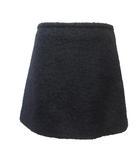 プラダ PRADA MILANO ミニスカート バージンウール 国内正規 台形 モヘア混 黒 ブラック 38 X