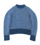 ルイヴィトン LOUIS VUITTON 18SS ニット セーター キムジョーンズ カシミヤ混 ミックス クルーネック プルオーバー 長袖 イタリア製 国内正規品 S 青 ブルー S664