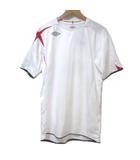 アンブロ UMBRO イングランド代表 05/06 ホーム ゲーム シャツ サッカー ウエア 半袖 白 赤 紺 ホワイト レッド ネイビー LUMIACE ルミエース 軽量 高吸水散機能 スポーツウェア X