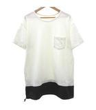 ソフネット SOPHNET. 18SS Tシャツ FAKE LAYERED POCKET TEE 半袖 ポケット カットソー 切替え ペイズリー トップス L 白 オフホワイト S688