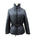 フェンディ FENDI 中綿 ジャケット ナイロン リュック付き ロゴベルト スタンドカラー コート 40 約Lサイズ 黒 ブラック S ☆AA★