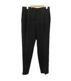 マックスマーラ MAX MARA スラックス パンツ テーパード センタープレス 白タグ ウール 黒 ブラック 42 大きいサイズ