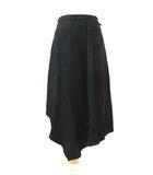 マックスマーラ MAX MARA 白タグ 花柄 スカート アシンメトリー フラワー編み柄 イタリア製 40 黒 ブラック S