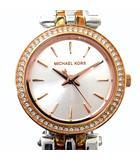 マイケルコース MICHAEL KORS PETITE DARCI ダーシー 腕時計 クォーツ 3針 ラインストーン ラウンドフェイス ピンクゴールド シルバーカラーコンビ MK-3298 動作品 箱コマ付き A