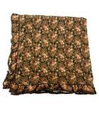 カネコイサオ KANEKO ISAO テーブルクロス ピコフリル 花柄 フラワー リバティー 総柄 コットンファブリック 茶 ブラウン 正方形 全長106×106cm テーブルリネン OFH A