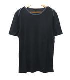ルイヴィトン LOUIS VUITTON Tシャツ 半袖 無地 カットソー コットン トップス イタリア製 国内正規 M 黒 ブラック S1310 IBS49