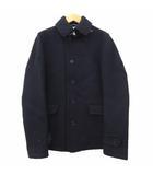 シップス SHIPS Thermore メルトン シングル コート ジャケット ウール混 ブルゾン S 紺 ネイビー IBS52
