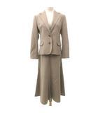 マドモアゼルノンノン mademoiselle NON NON スカート スーツ ウール 2Bシングル ジャケット セットアップ 入学式 式典 36 Sサイズ ベージュ S IBS52