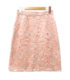 プロポーション ボディドレッシング PROPORTION BODY DRESSING ひざ丈 スカート フラワーレース セミタイト 3 Lサイズ ピンク S