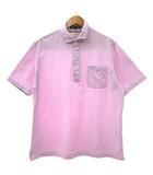 アクアスキュータム AQUASCUTUM ポロシャツ カットソー 半袖 ワンポイント刺繍 コットン 胸ポケット LL ゆったりサイズ ピンク Y1791