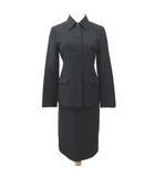 ブルックスブラザーズ BROOKS BROTHERS スーツ ロングスカート ジャケット 無地 上下 セットアップ M&Sサイズ 黒 ブラック S NVW