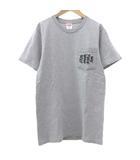シュプリーム SUPREME 17SS SUPREME GO FUCK YOUR SELF Tシャツ 半袖 ポケット カットソー クルーネック トップス S ライトグレー ☆AA★