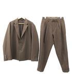 ユナイテッドトウキョウ UNITED TOKYO Relaction スーツ ボックス ジャケット2 テーパードパンツ3 セットアップ 薄手 無地 カジュアル 約Mサイズ 茶 ブラウン S2021