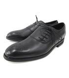 リーガル REGAL worth collection ビジネスシューズ レザー ドレスシューズ パンチング 内羽根 革靴 24.5 小さいサイズ 黒 ブラックIBS65