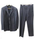 エンポリオアルマーニ EMPORIO ARMANI スーツ セットアップ ジャケット スラックス パンツ シングル 3B 国内正規 ウール ストライプ 大きいサイズ 50 LL グレー N  IBS65